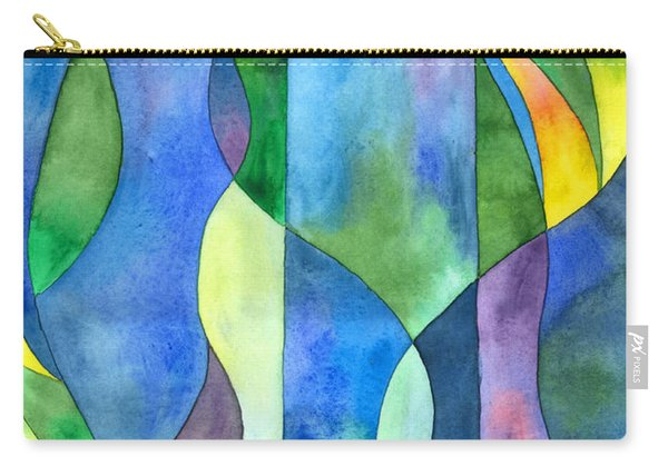 Jungle River Abstract Carry-all Pouch