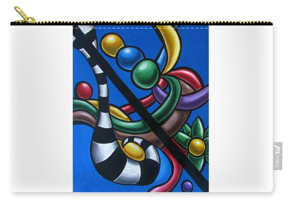 Original Colorful Abstract Art Painting - Multicolored Chromatic Artwork Painting Carry-all Pouch