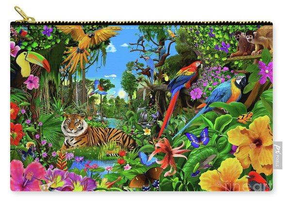 Jungle Sunrise Carry-all Pouch