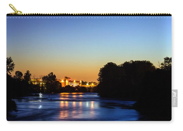 Jupiter And Venus Over The Willamette River In Eugene Oregon Carry-all Pouch
