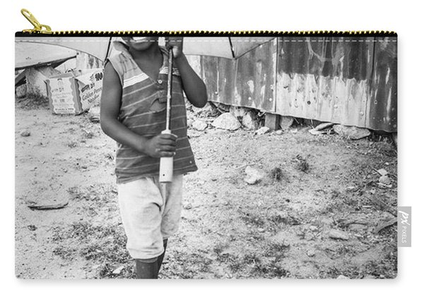 Just A Boy And His Umbrella, Nigeria Carry-all Pouch