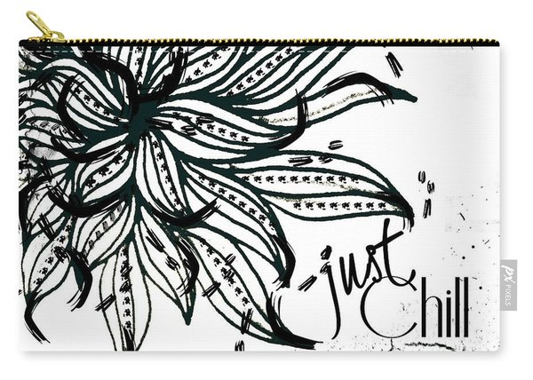 Carry-all Pouch featuring the drawing Just Chill by Rachel Maynard