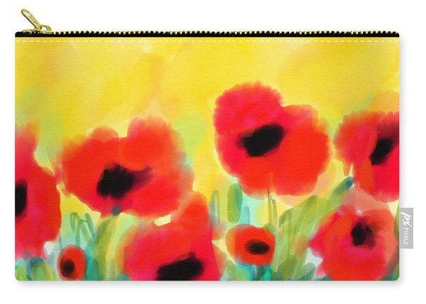 Just Poppies Carry-all Pouch