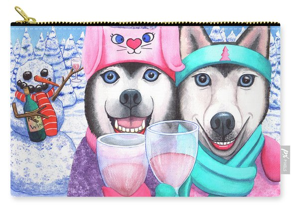 Just Wining In A Winter Wonderland Carry-all Pouch