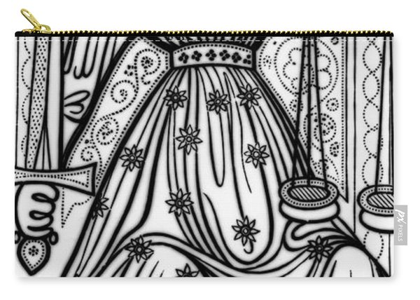 Justice Tarot Card Carry-all Pouch