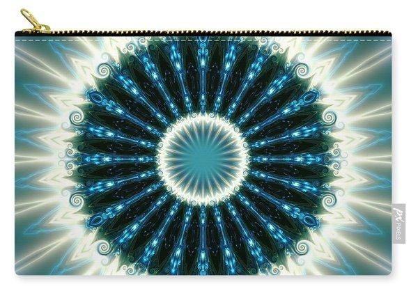 Carry-all Pouch featuring the digital art Jyoti Ahau 101 by Robert Thalmeier
