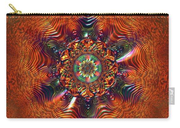 Carry-all Pouch featuring the digital art Jyoti Ahau 177 by Robert Thalmeier