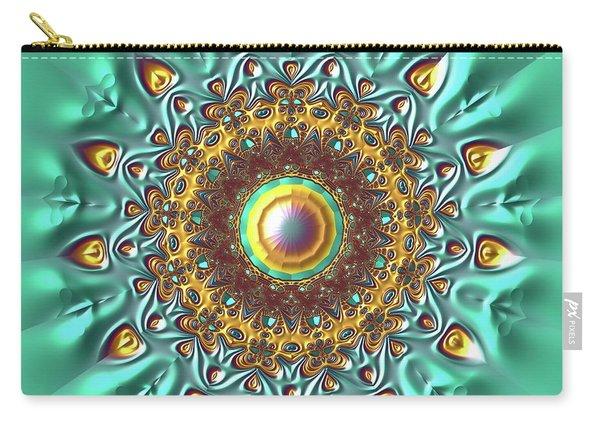 Carry-all Pouch featuring the digital art Jyoti Ahau 178 by Robert Thalmeier