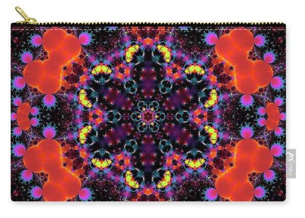Carry-all Pouch featuring the digital art Jyoti Ahau 185 by Robert Thalmeier