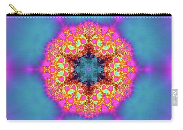Carry-all Pouch featuring the digital art Jyoti Ahau 192 by Robert Thalmeier