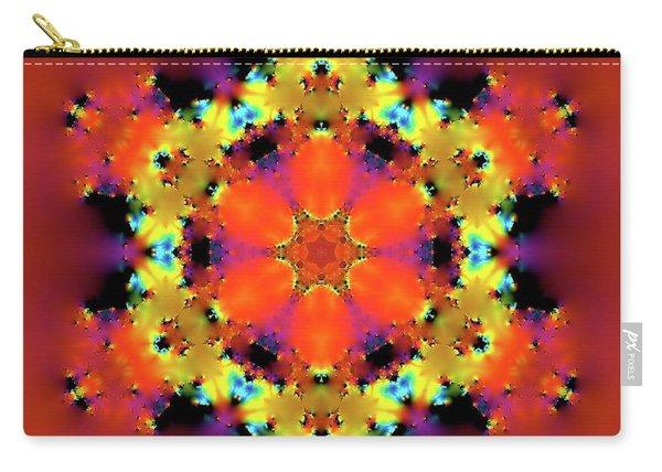 Carry-all Pouch featuring the digital art Jyoti Ahau 193 by Robert Thalmeier