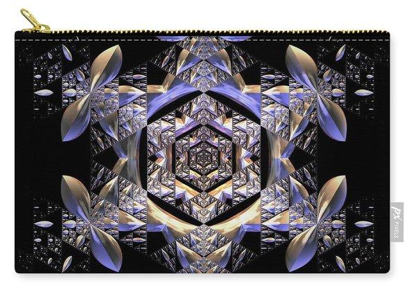 Carry-all Pouch featuring the digital art Jyoti Ahau 198 by Robert Thalmeier