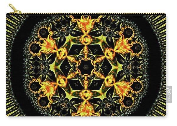 Carry-all Pouch featuring the digital art Jyoti Ahau 199 by Robert Thalmeier
