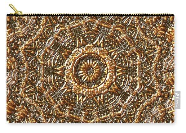Carry-all Pouch featuring the digital art Jyoti Ahau 207 by Robert Thalmeier