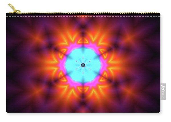 Carry-all Pouch featuring the digital art Jyoti Ahau 216 by Robert Thalmeier