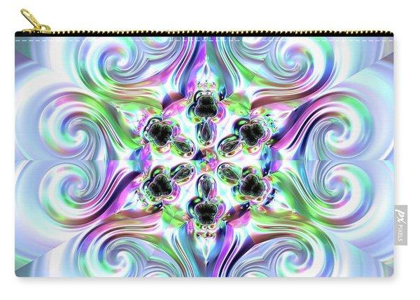 Carry-all Pouch featuring the digital art Jyoti Ahau 217 by Robert Thalmeier