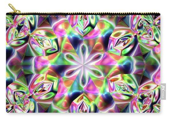 Carry-all Pouch featuring the digital art Jyoti Ahau 219 by Robert Thalmeier