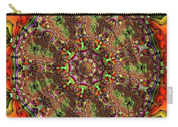 Carry-all Pouch featuring the digital art Jyoti Ahau 237 by Robert Thalmeier