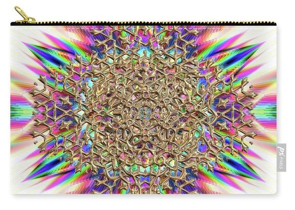 Carry-all Pouch featuring the digital art Jyoti Ahau 2374 by Robert Thalmeier