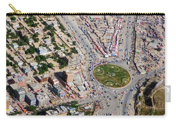 Kabul Traffic Circle Aerial Photo Carry-all Pouch