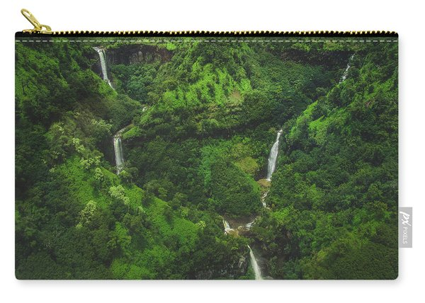 Kahili Falls Aerial Carry-all Pouch