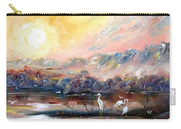 Carry-all Pouch featuring the painting Kakadu by Ryn Shell