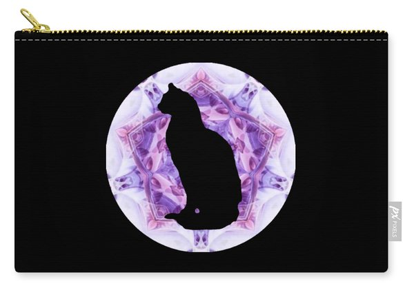 Kaleidoscope Cat Silhouette Carry-all Pouch