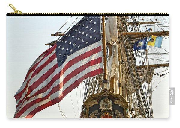Kalmar Nyckel American Flag Carry-all Pouch