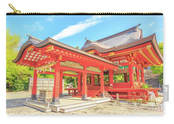 Carry-all Pouch featuring the photograph Kamakura Tsurugaoka Hachiman by Benny Marty