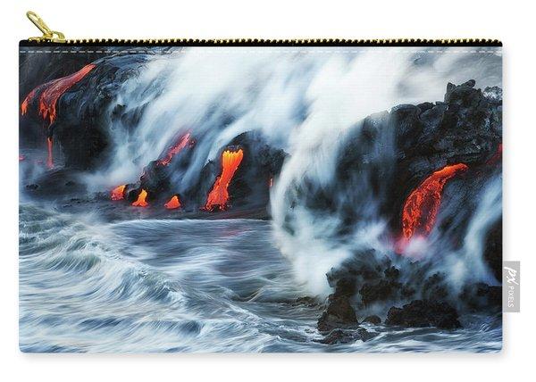 Kamokuna Lava Ocean Entry, 2016 Carry-all Pouch
