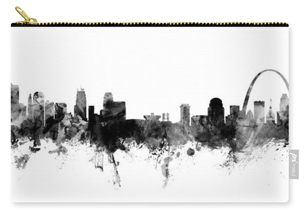Kansas City And St Louis Skyline Mashup Carry-all Pouch