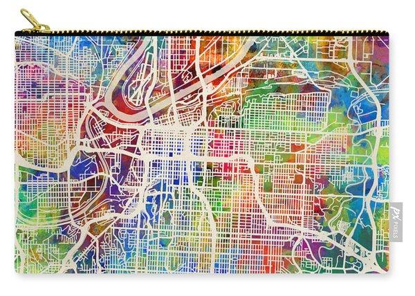 Kansas City Missouri City Map Carry-all Pouch