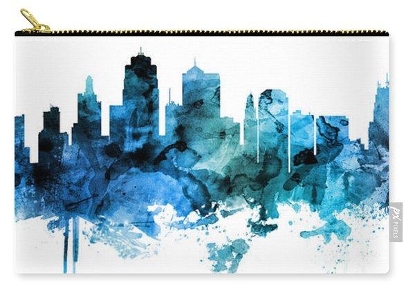 Kansas City Missouri Skyline Custom Panoramic Carry-all Pouch