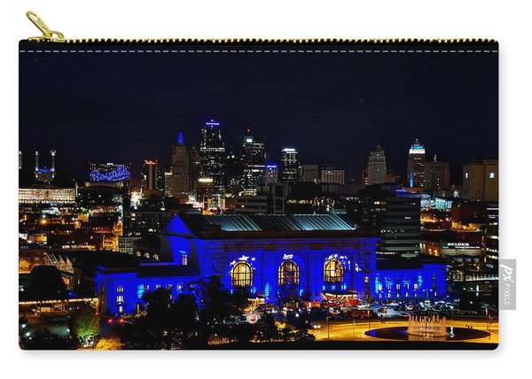 Kansas City Skyline And Union Station During 2015 World Series Carry-all Pouch