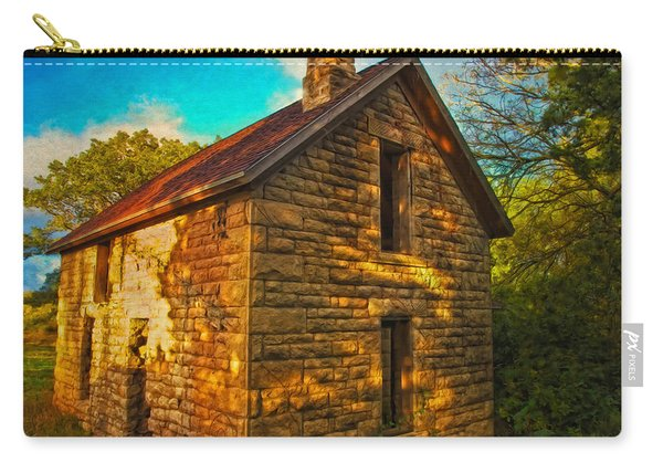 Kansas Countryside Stone House Carry-all Pouch