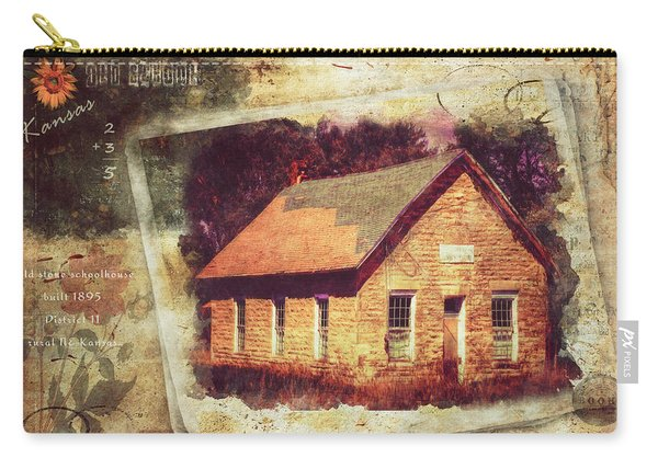 Kansas Old Stone Schoolhouse Carry-all Pouch