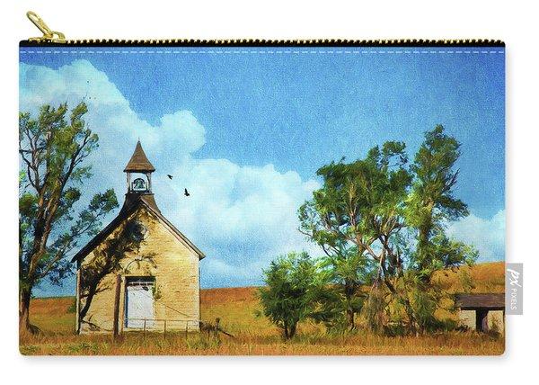 Kansas Prairie Schoolhouse Carry-all Pouch