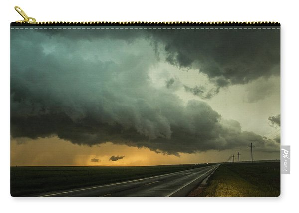Carry-all Pouch featuring the photograph Kansas Storm Chase Bust Day 004 by NebraskaSC