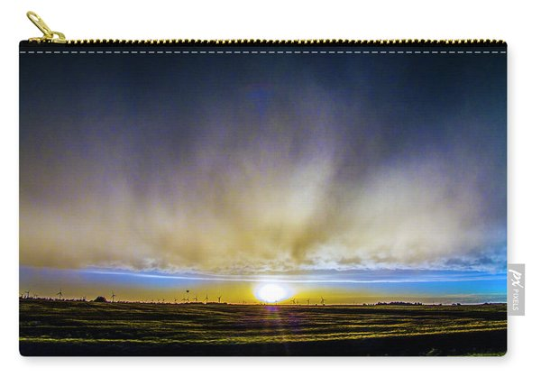 Carry-all Pouch featuring the photograph Kansas Storm Chase Bust Day 005 by NebraskaSC