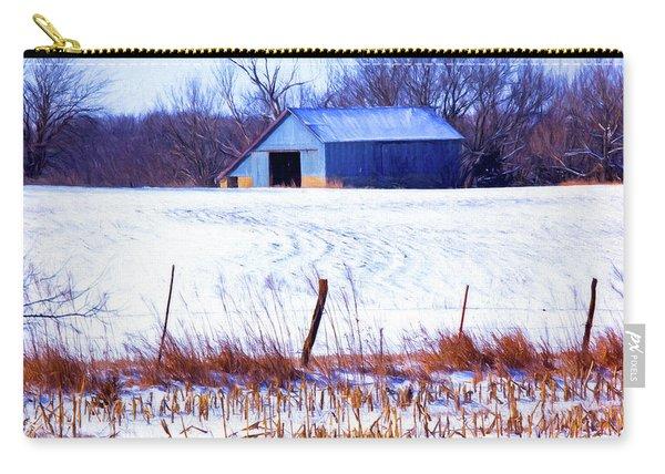 Kansas Winter Field Barn 1 Carry-all Pouch