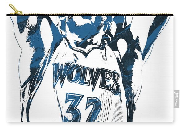 Karl Anthony Towns Minnesota Timberwolves Pixel Art Carry-all Pouch