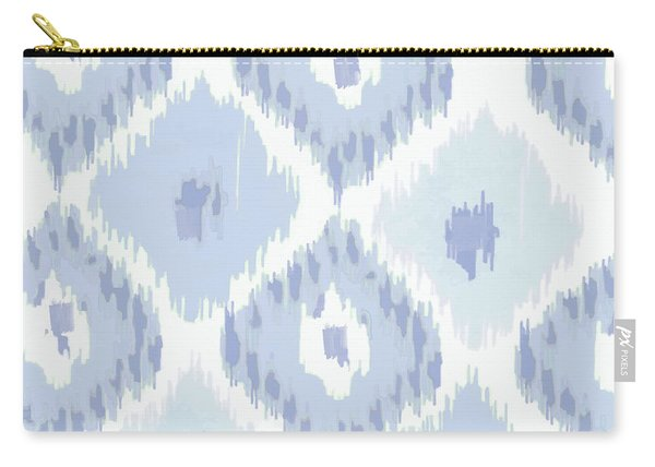 Kasbah Blue Ikat Carry-all Pouch