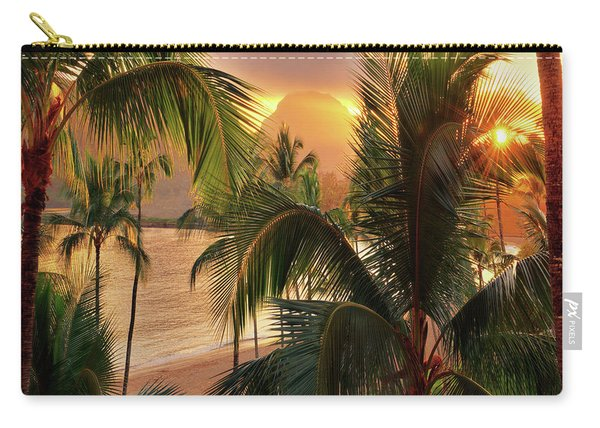 Olena Art Kauai Tropical Island View Carry-all Pouch
