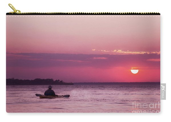 Kayak At Sunset Carry-all Pouch