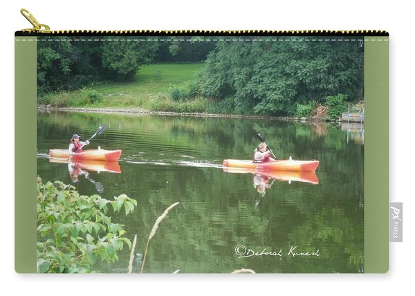 Kayaks On The River Carry-all Pouch