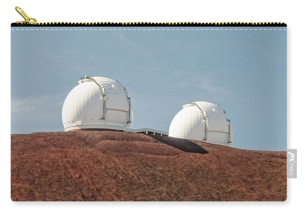 Carry-all Pouch featuring the photograph Keck 1 And Keck 2 by Jim Thompson