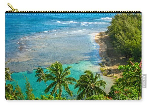 Kee Beach Kauai Carry-all Pouch