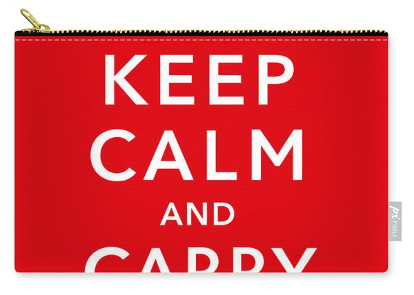 Keep Calm And Carry On Carry-all Pouch