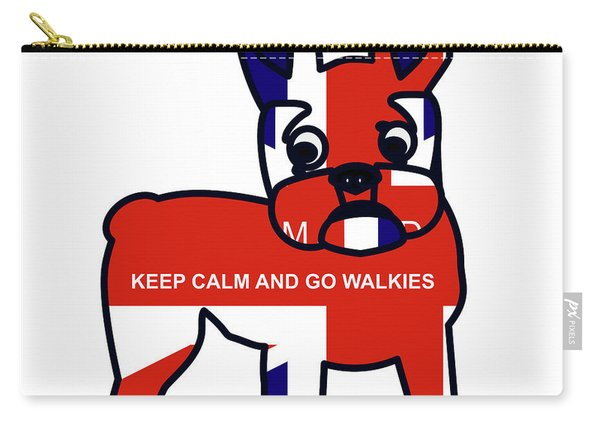 Keep Calm And Go Walkies Carry-all Pouch