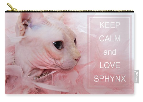 Keep Calm And Love Sphynx Cat Carry-all Pouch